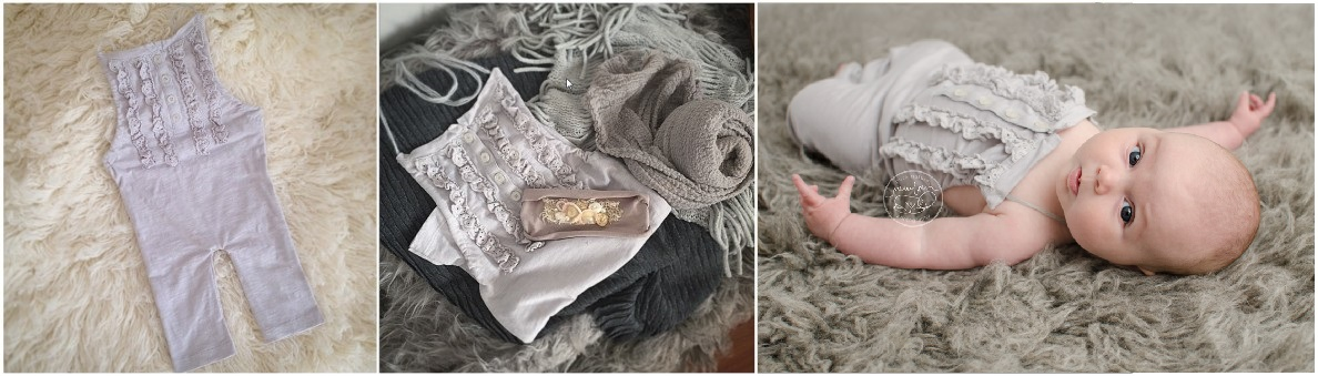 pure-natural-newborn-photography-gatineau-ottawa-birth-baby-and-belly-photographer-sitter-romper-grey-ruffle-buttoned-outfit-flokati-product-photogr