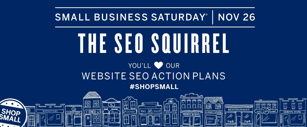 small business saturday the seo squirrel ottawa business services poster